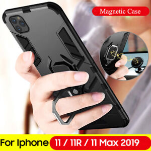 Shockproof Bumper Hybrid Armor Case for iPhone 11 Pro Max X XS Ring Holder Cover
