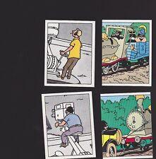 Herge Tintin Panini 1989 autocollant 4 im 37 38 39 40
