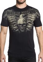XTREME COUTURE by AFFLICTION Men T-Shirt TASK FORCE Skull Tattoo Biker GYM $40