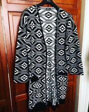NUOVO! ROMAN Black & White AZTECO GRAFICA Cardigan lungo con tasche - 12 (14)