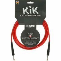 """Klotz Instrument Cable KIK 10ft 3m Guitar Cable Cord Red 1/4"""" straight-straight"""