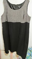 R&M Richards women Plus size 24W Black/Gray Dress sleeveless Lot#30
