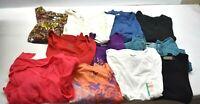 Women's 1X Various Brands Spring/Summer Long Sleeve T-Shirts & Tanks Lot of 11