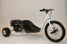 New 212cc Predator Gas Powered Drift Trike. Pearl White