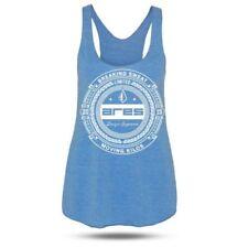 Camisetas de mujer de color principal azul de poliéster