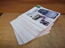 Japanese & Korean automobiles bi fold information cards from 1990's