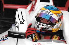 Oliver Rowland SIGNED Fortec Motorsport Portrait , Formula Renault 3.5  2014
