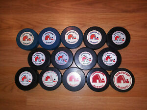 Quebec Nordiques Complete WHA Game Used Puck Set