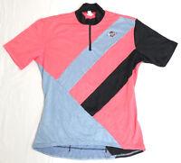 vtg REI NOVARA Cycling Jersey SMALL 90s Bellwether bike neon pink rare