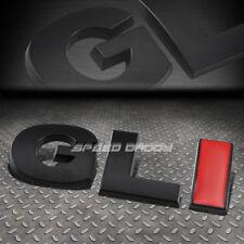 FOR VW GLI GOLF/JETTA METAL BUMPER TRUNK DOOR GRILL EMBLEM DECAL BADGE BLACK RED