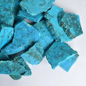 500 Ct. Natural Arizona Blue Turquoise Rough Slab Crystal Loose Gemstones Lot