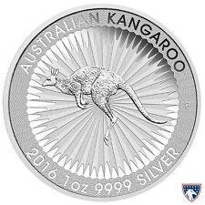 2016 1 oz Australian Silver Kangaroo (BU) with Light Spotting