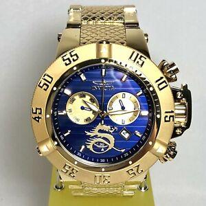 INVICTA 33406 Men's 56mm Goldtone/Blue Grand Subaqua Noma III Bracelet Watch