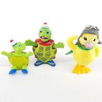 Wonder Pets Tuck Turtle & Ming Ming Duck Bobble Head Figure Nick Jr. Toys Lot