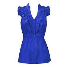 100% Cotton V-Neckline Sleeveless Tops & Blouses for Women