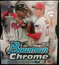 2018 Bowman Chrome Baseball Factory Sealed HOBBY Box-2 AUTOGRAPHS