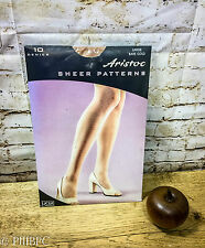 Aristoc Sheer Patterns 10 Denier Large Bare Gold Lycra Vintage Tights Stockings