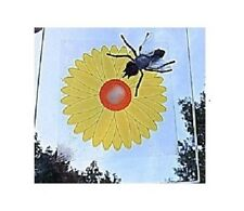 4 FLY TRAPS SUNFLOWER DESIGN PESTICIDE WINDOW FLY CATCHER  PEST CONTROL INSECTS