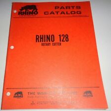 Rhino 128 Rotary Mower Cutter Parts Catalog Manual Book Original Servis