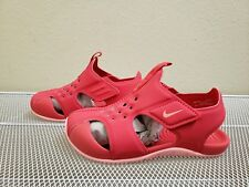Nike SUNRAY PROTECT 2 (TD) Girls Pink/Coral Water SANDALS 943829-600 Size 9C
