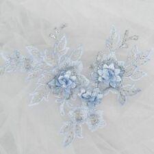 5× Lace Applique DIY Wedding Dress Headwear Patch Flower Embroidered Trim Motif