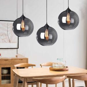 3X Kitchen Pendant Lights Grey Pendant Lighting Home Lamp Glass Ceiling Light
