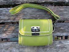 Lime Green Spring Womens Wrist Wallet Tiny  Clutch Purse Cute Dainty Compact