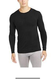 32 Degrees HeatMen's Sz XL Black Base Layer Long Sleeve Shirt Black Pack