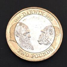£2 Coin Charles Darwin 2009 FREEPOST