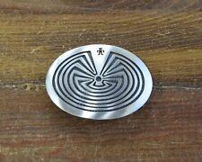 in the Maze Belt Buckle Vintage Hopi Sterling Silver Man