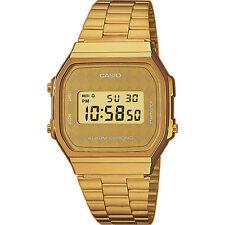 CASIO A168WG-9B*A168WG-9BWEF*ORIGINAL*ENVIO CERTIFICADO*RETRO*DORADO*ROMBOS*GOLD