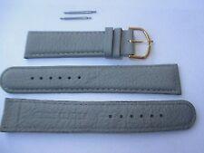 Uhrenarmband 20 mm breit, grau Kalbsleder. 2 Stege, Uhrenband, Uhrenbänder