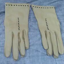Vintage Never worn Tan Women's Genuine Soft Deerskin Leather Gloves-