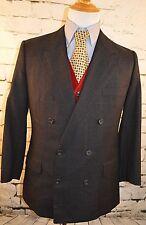 Gieves & Hawkes Savile Row Blue Wool Bespoke Double Breasted Sport Coat 42S