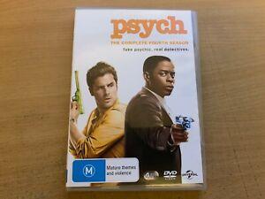 Psych Season 4 The Fourth Series Four James Roday Dule Hill (DVD 2006 4-Disc) R4