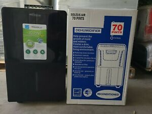 NEW: Soleus Air 70-Pint Dehumidifier with Internal Pump HMT-D70EIP-A