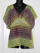 Womens size 20 sheer print blouse made by KATIES