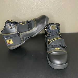 2007 Nike Zoom Lebron Soldier 1 Black Gold 11 316643-001 sole collector dunkman