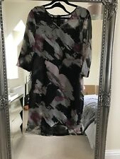 BNWT Boutique Camisole And chiffon Dress Grey Black Purple Size 14