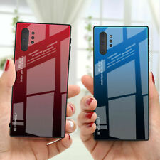 Gradient Glass Case For Samsung Galaxy Note 10 S20+S10 S9 S8 Hybrid Phone Cover