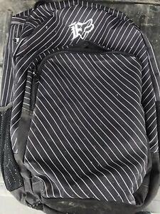 Fox Racing Black Backpack Hiking Kayaking Extreme Outdoors Bag Mens Womens