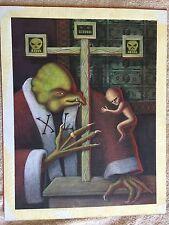 Brian Sendelbach original painting freaky horror comic 1990s? art illustration