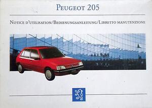 Bedienungsanleitung PEUGEOT 205 - Artikelnummer DCM 4270