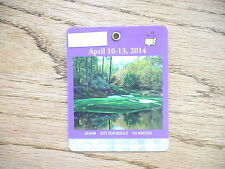 2014 MASTERS GOLF AUGUSTA NATIONAL BADGE TICKET BUBBA WATSON WINS VERY RARE