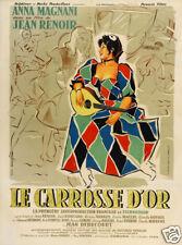 Le carrosse d'or Jean Renoir vintage movie poster print 2
