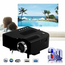 high Lumen HDMI VGA SD AV USB Portable Mini LED Projector Home Cinema RB