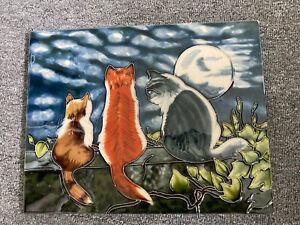 Decorative Cat Art Tile