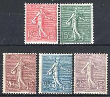 "FRANCE STAMP YVERT 129 / 133 SCOTT 138 - 142 "" SOWER YEAR 1903 "" MNH VF P540"