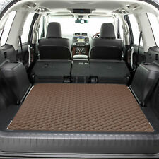 """Heavy Duty Cargo Liner Mat Faux Leather 46"""" Flat Diamond For SUV Truck  Brown"""