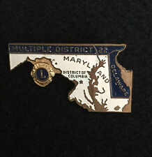 Lions Club Pins 1967 MD 22 Maryland, Delaware, District of Columbia